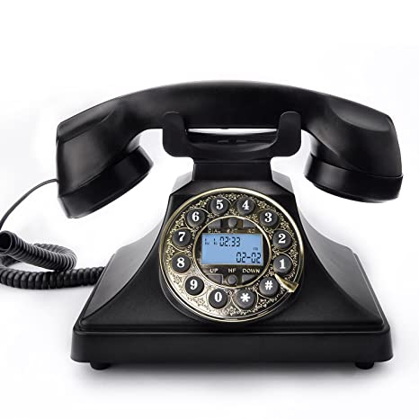 Retro Telephone, Bnest Vintage Phone Classic Corded Phone Antique Style  Push Button Dial Caller ID Display Desk Classic Telephone Home Living Room