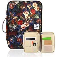 A4 dokumentfodral – multifunktionell portfölj resväska hållare med dragkedja filer biljetter pass organiserare Messenger…