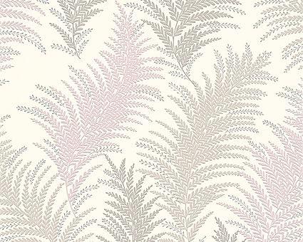 2, Tapete Vinyl Farn Natur Floral New Orleans Vinyltapete AS creme grau 30508-3