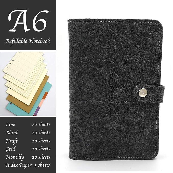 E&F - Diario organizador personal para cuaderno (tamaño A6 ...