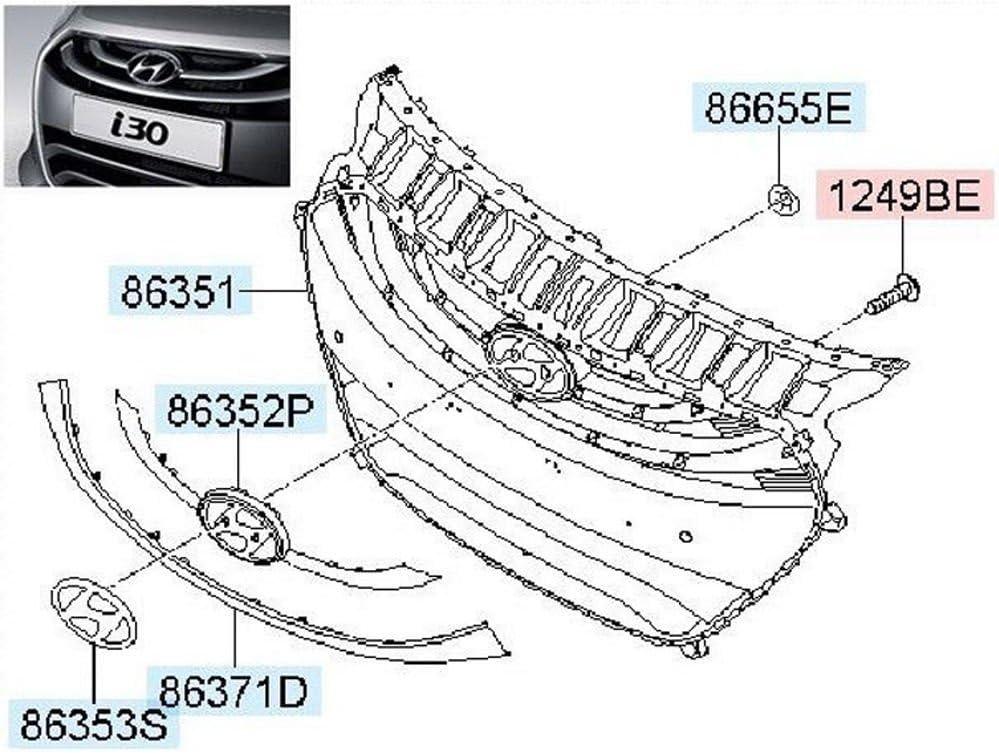 Genuine Radiator Grille Shield Upper Cover OEM ELANTRA GT Hatchback 2013-2017