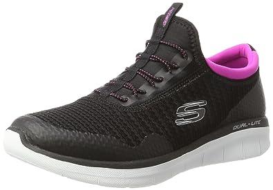 Skechers Sport Women's Synergy 2.0-Mirror Image Fashion Sneaker,Black Hot  Pink,5