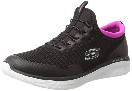 innovative design 85f7e 65883 Skechers Women s 12386 Slip On Trainers, (Black Pink), 2 UK 35