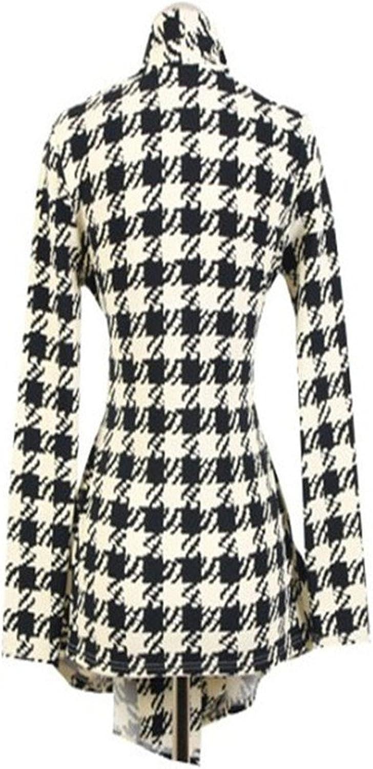 Korean Style Houndstooth Thin Cardigan Coat Jacket Outwear Doris Batchelor Pretty Women Cardigan