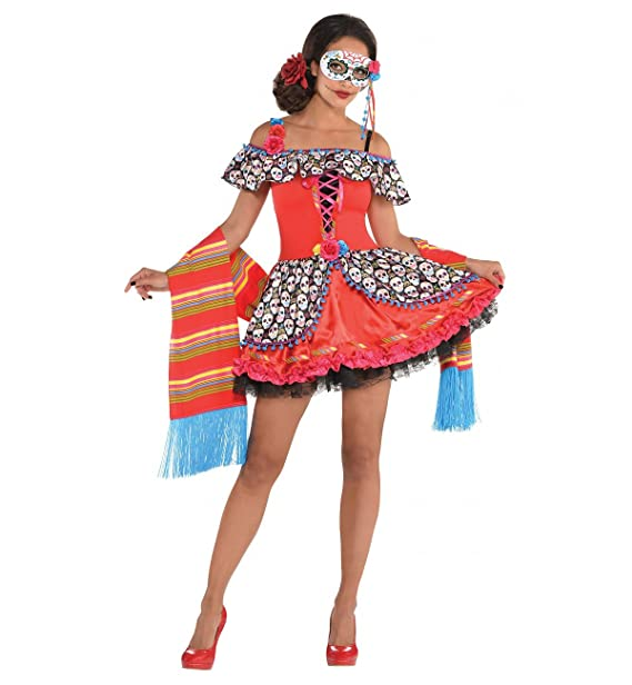 Costumes USA Senora Sugar Skull Day of the Dead Adult Costume (Small)