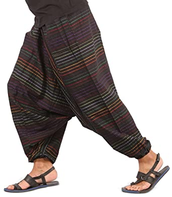 50bdfb998 Amazon.com  Mens Baggy Yoga Hippie Boho Aladdin Alibaba Harem Pants ...