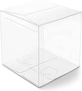 Clear Candy Gift Box, Transparent Boxes for Candy Party Favors (4 In, 30 Pack)