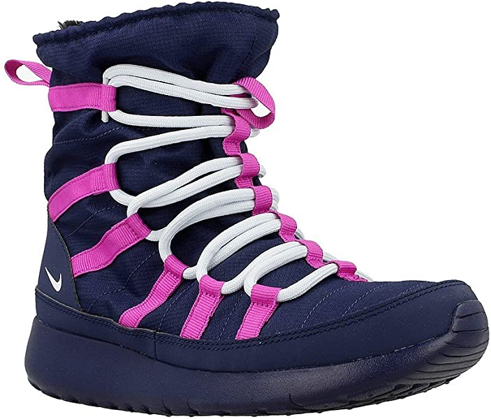 b37c9a4e87a0 Amazon.com  NIKE Roshe One HI GS - 807758407 - Color Navy Blue-Pink ...