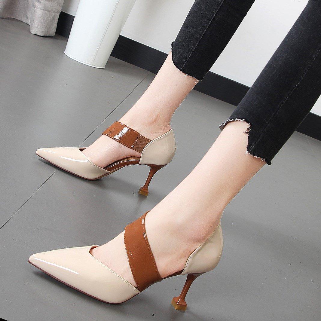 Xue Qiqi Kabelverzweigung für Damenschuhe mit der Zehe von der geschlitzten waren Gitter 头 Licht-isolierte einzelne Schuhe Frauen