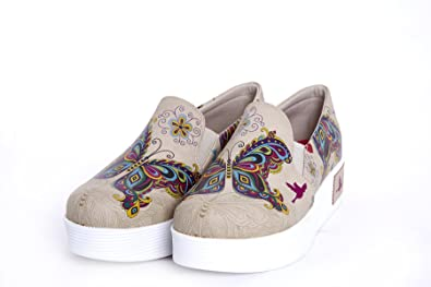 Goby Butterfly Print Sneaker pINm2