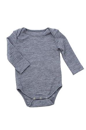 449d39429 Amazon.com: Nui Organics Merino Thermal Bodysuit Silver: Clothing