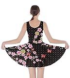 CowCow Womens Dark Blossom Skater Dress, Dark 2 - L