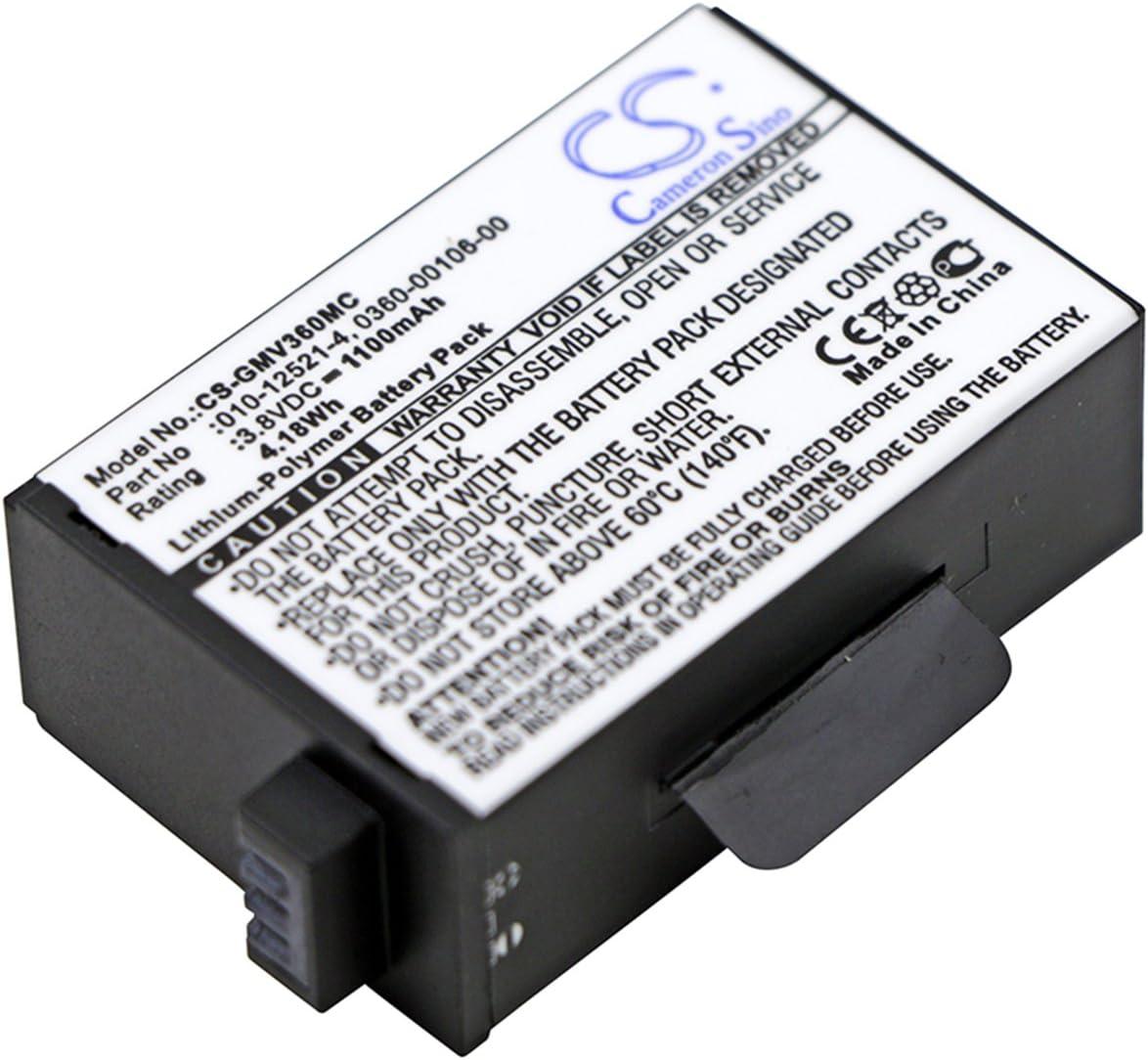 VINTRONS 1100mAh Battery for Garmin Virb 360,