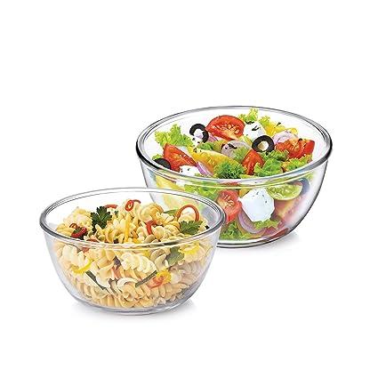 Treo Borosilicate Glass Microwave Safe Mixing Bowl Combo of 2