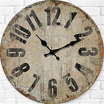 Amazon.de: FUXINGXING Amerikanische antike Uhren runden ...