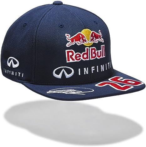 Gorra de visera plana Red Bull de Daniil Kvyat, 2015: Amazon.es ...