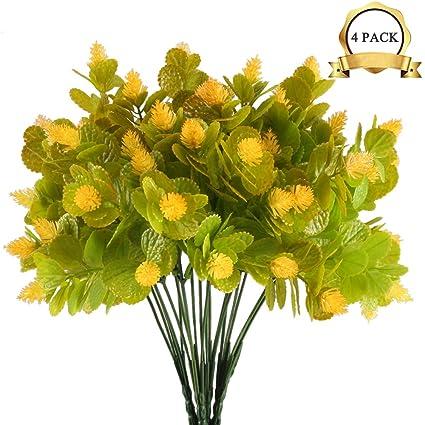 Amazon Xyxcmor 4pcs Artificial Plants Fake Plastic Flower