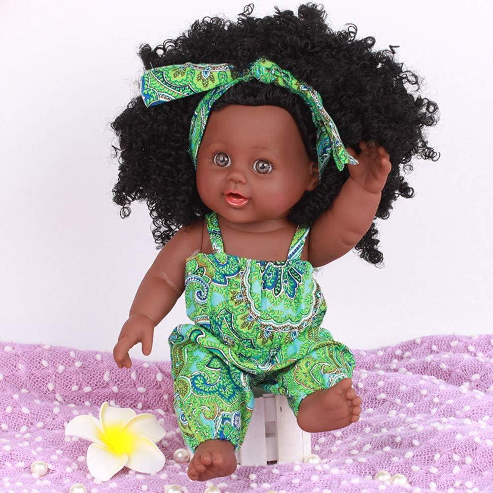 Rameng Poupee Noire Afro-am/éricaine R/éalistes 20cm B/éb/é Poup/ées pour Enfants Jouets Poup/ée Enfant pour Enfants