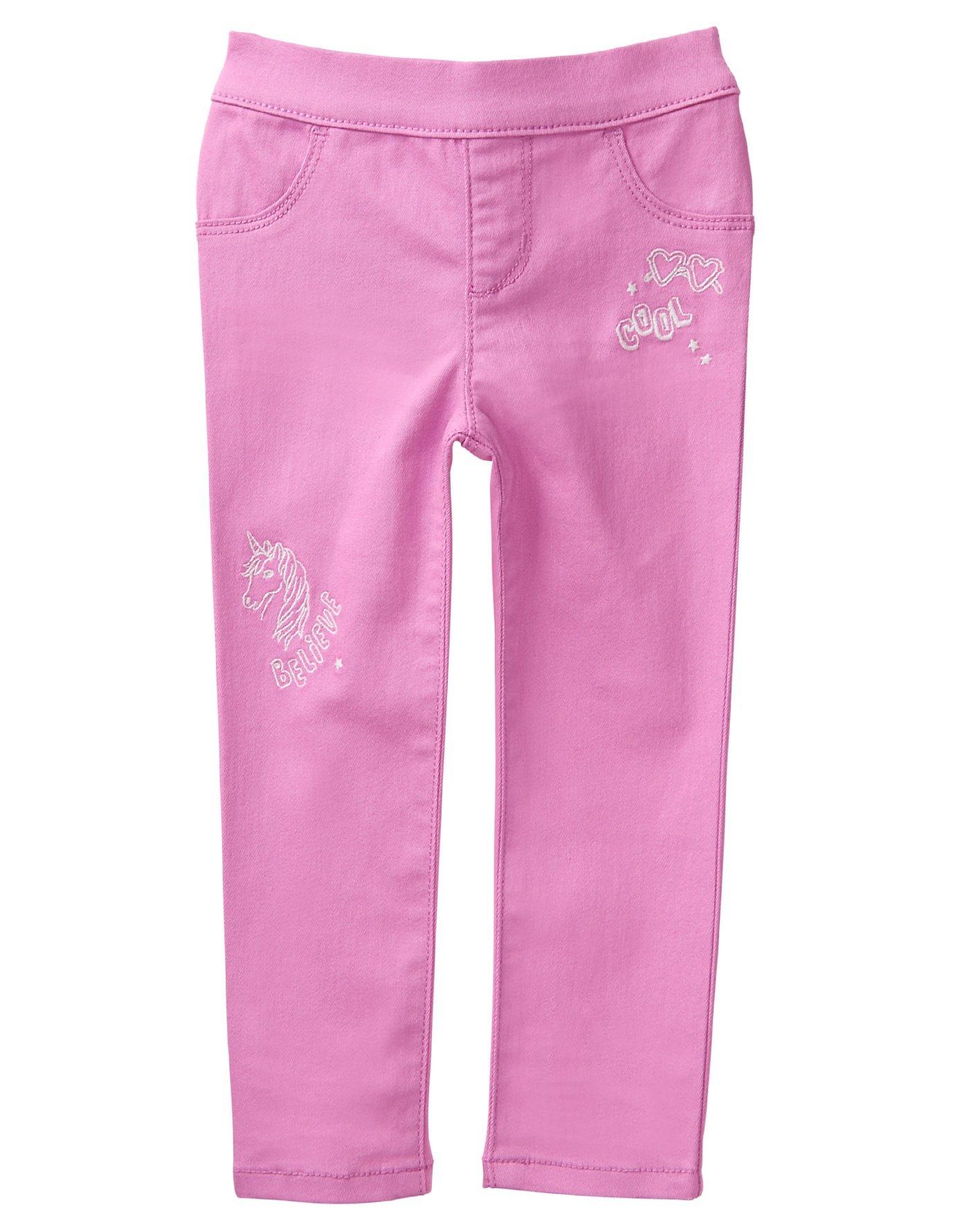 Crazy 8 Toddler Girls' Her Li'l Pull-on Jegging, Pink Doodles, 6-12 Mo