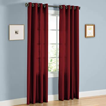 United Linens   2 Piece window curtains  38x84   burgundy  faux silk Window. Amazon com  United Linens   2 Piece window curtains  38x84