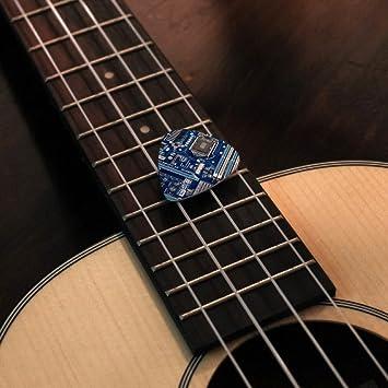 Set of 6 Blue Computer Motherboard Processor CPU Novelty Guitar Picks Medium
