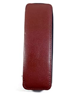 GiRiJA Women's Brown Faux Leather Zip Necklace Pouch