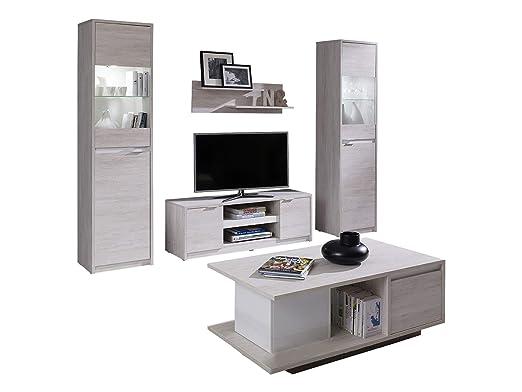 Mirjan24 Wohnzimmer Set Reton I Couchtisch Wandregal Tv Lowboard