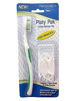 Platypus Ortho - Cepillo de dientes y Ortho - Hilo dental para ...