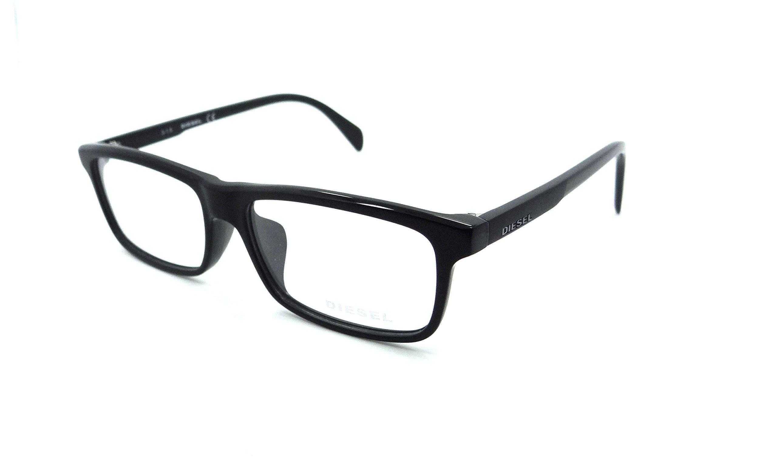 Diesel Rx Eyeglasses Frames DL5203-F 002 54-15-145 Matte Black Asian Fit