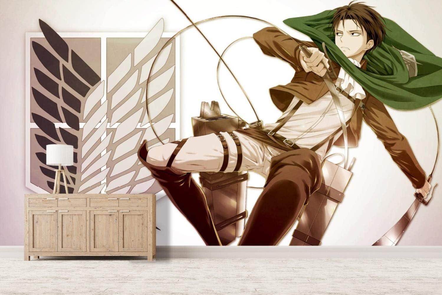 Attack On Titan Anime Wallpaper Wall Mural Children Kids Room 150x105cm 59x41 3 Inch Wxh Amazon Co Uk Diy Tools