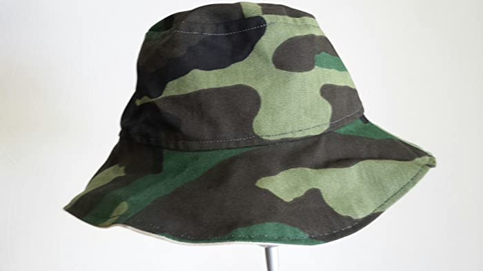 88020e3a927 Image Unavailable. Image not available for. Color  Reversible bucket hat -  handmade - camouflage print size ...