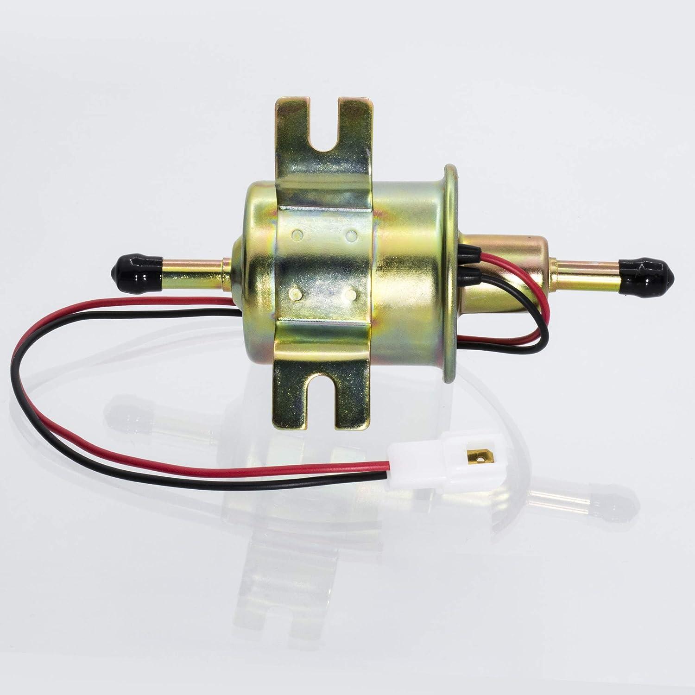 1PZ GP2-E04 Universal 12V 2.5-4 PSI Gas Diesel Inline Low Pressure Electric Fuel Pump HEP-02A for Nissan Suzuki All 12 Volt Cars Trucks Boats /& Generators