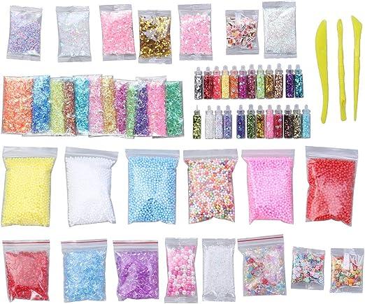 supvox Slime Supplies Kit, 60 Pack Slime perlas colgantes ...