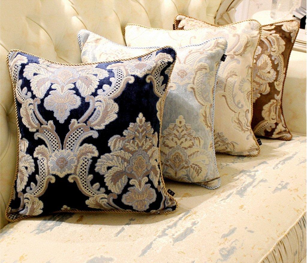 Amazon.com: SHARON-Throw - Cojín cuadrado decorativo de tela ...