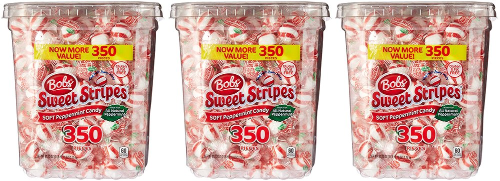 Bobs Sweet Stripes Soft RCiWU Peppermint Balls, 350 Count (3 Pack) by ShippedFast