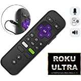 Replacement ROKU Enhanced Voice Remote w/Headphone Jack/Pairing Button/Voice Control/Lost Remote Finder/Game Function and 4 Shortcuts for Roku 4K Players Ultra Premiere/+ Stick/+ Roku 4 Roku 3