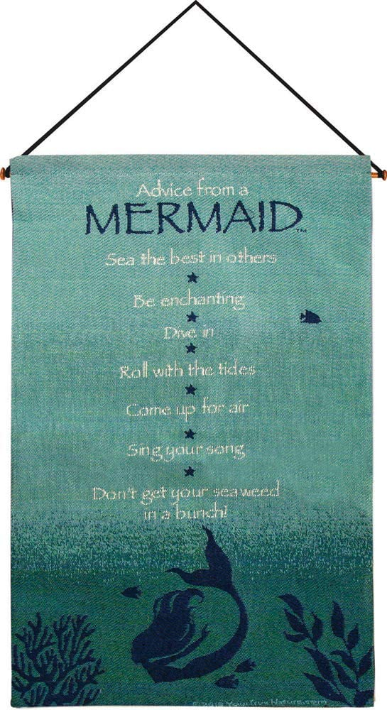 Manual Woodworker HWAFAM Advice from A Mermaid Wall Hanging, 17 x 26 inch