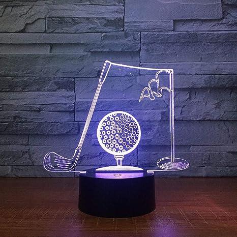 Luz De Noche 3D Palos De Golf 3D Lámpara De Mesa Visual De ...
