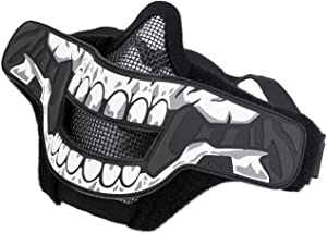 OneTigris 1TG FACE Off Airsoft Mask with Removable Morale Patch (Mask Set - Hao)