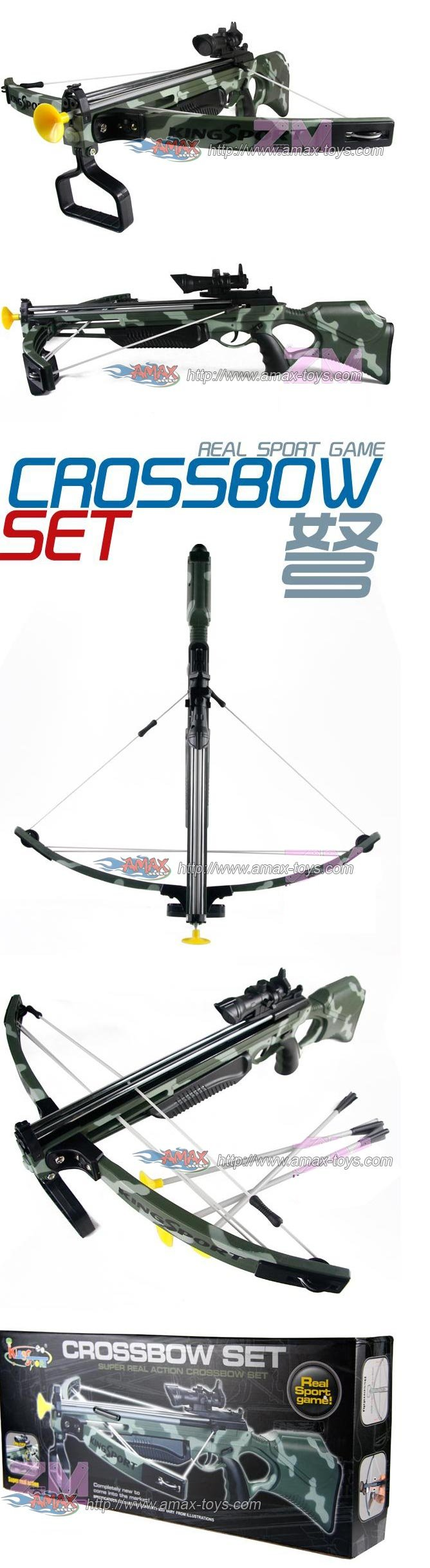 Deluxe Action Military Crossbow Set with Scope 30''