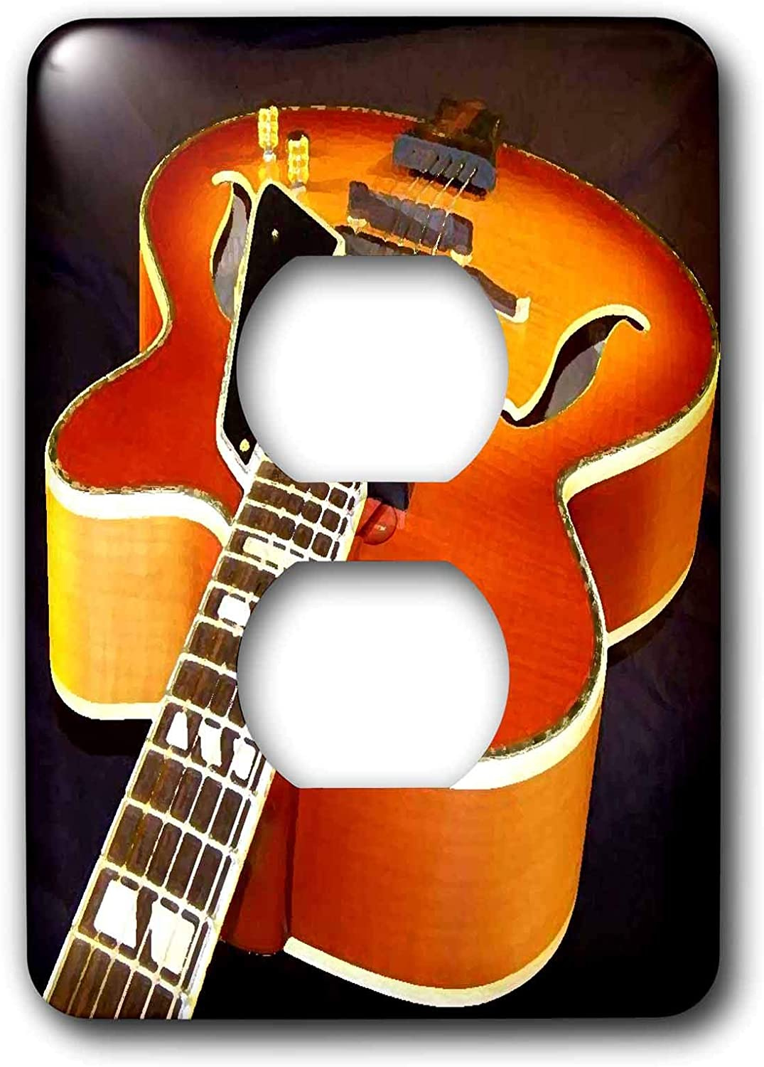 3drose Lsp 4093 6 Jazz Guitar 2 Plug Outlet Cover Switch And Outlet Plates