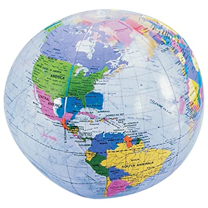 Buy Earth Globe Beach Balls - 6 Cnt  Online at Low Prices in