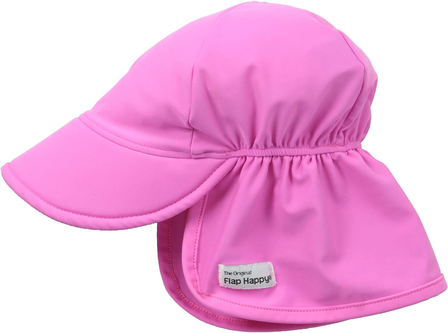 Azo-free dye Floats on Water Highest Certified UV Sun Protection Flap Happy Baby and Childrens Swim Flap Hat UPF 50+