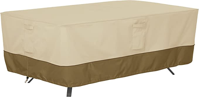 Classic Accessories Veranda Water-Resistant 72 Inch Rectangular/Oval Patio Table Cover - Best Cover For Tables