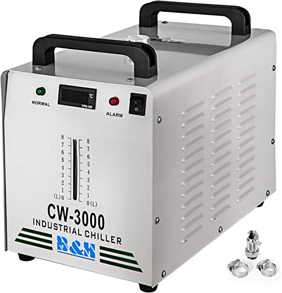 Thermolysis Water-Cooled Chiller CW-3000 CO2 Laser Tube CNC spindles Welding
