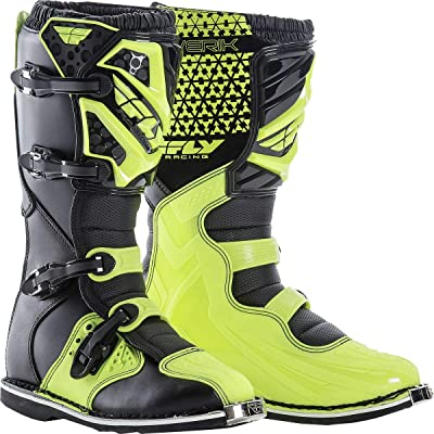 Fly Racing Unisex-Adult Maverick Mix Boots (Hi-Vis, Size 13): Automotive