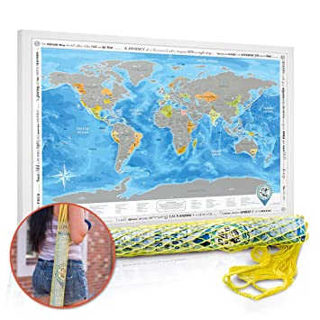 World maps posters at allposterscom 37 eyecatching world map detailed scratch off world map poster with cosy string bag large detailed world map poster gumiabroncs Images