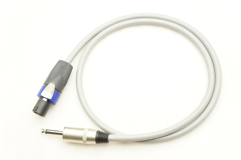 CANARE カナレ 4S8 スピーカーケーブル 4芯結線(スピコン→フォン) (40m, 黒) B01DHJNH8M 灰 2.5m 2.5m|灰