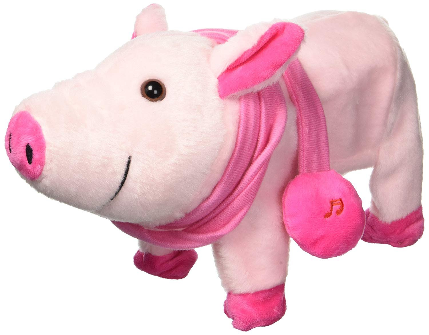 AJ Toys & Games Walking and Dancing Pig, Toy Stuffed Plush Pig, Realistic Dancing & Walking Actions with Music (Colors May Vary)