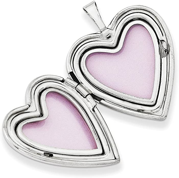 8mm x 16mm Sonia Jewels Sterling Silver Heart 3-D Love with Lobster Clasp Pendant Charm